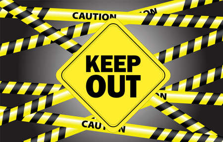 keep out Stock Vector - 14658192