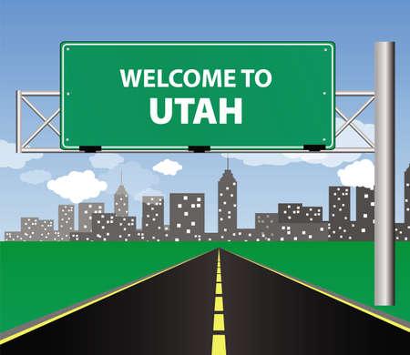 welcome to Utah Illustration