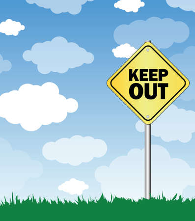 keep out Stock Vector - 16113140