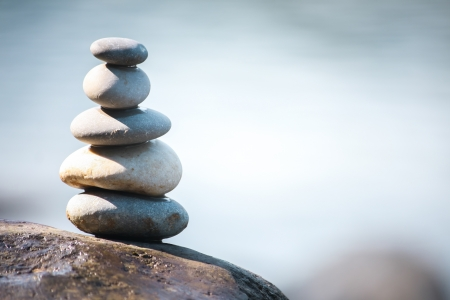 Balance stone, teamwork pyramid concept