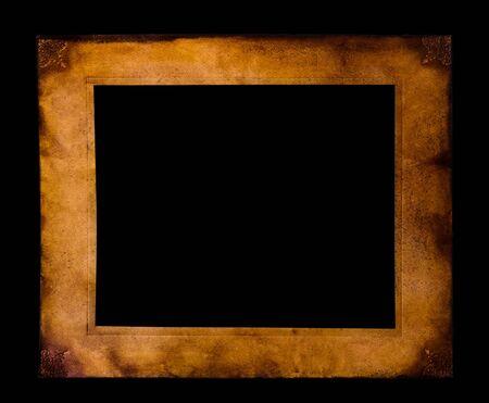 vintage parchement: Parchment frame on black