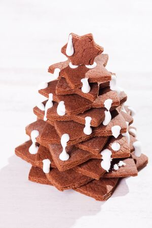 Cake in form of christmas tree