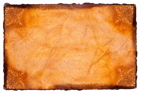vintage parchement: Parchment paper Stock Photo