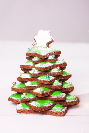 Gingerbread as christmas tree