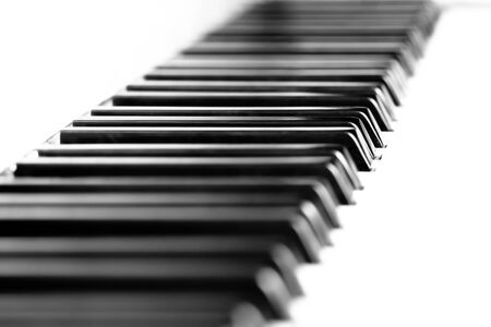 Piano keys  Black white photo Stock Photo - 16530246