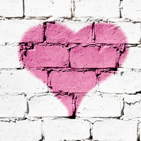 Heart graphite Stock Photo