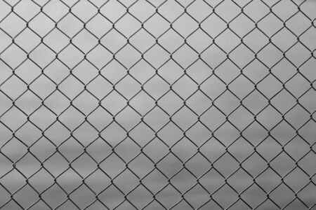 metal wall: Wire mesh as security barrier