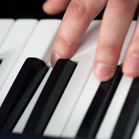 pianoforte: Piano playing, close-up on fingers