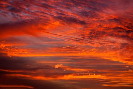colorful cloudscape: Beautiful dramatic and vibrant sky in sunset