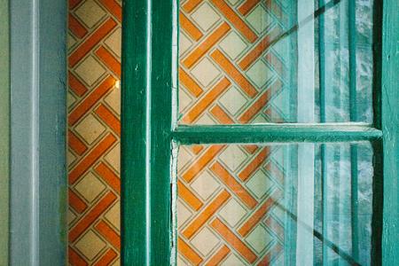 Retro wall design pattern Stock Photo
