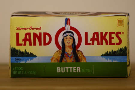 Clear Lake, WI / USA  - June 24 / 2020: Land O Lakes butter with Mia on the logo, a Native American woman