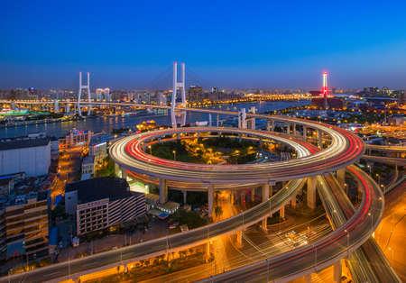 buiding: Shanghai Nanpu cityscape