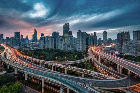 buiding: City highway Editorial