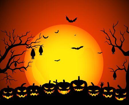 Halloween-Hintergrund Standard-Bild - 45831031