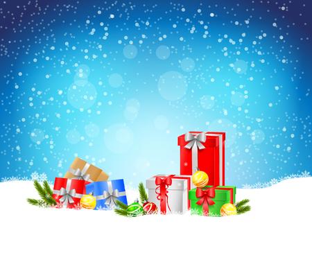 クリスマス背景  イラスト・ベクター素材