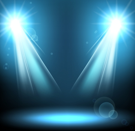 disco background: Abstract disco background with blue spot lights Illustration