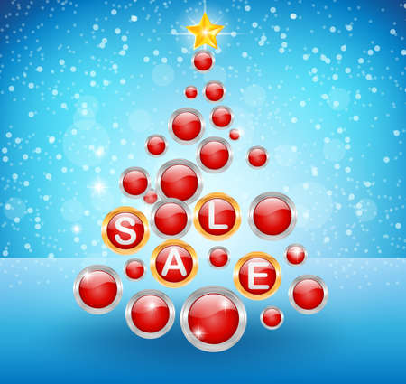 star background: Sale background with ball and star