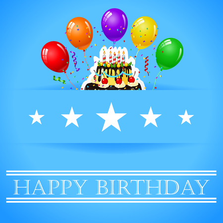 rood: Celebration background with Birthday cake and place for your text Illustration