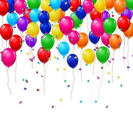 happy birthday vector: Modern birthday background with balloons Illustration