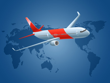airlines: Airlines, planes over world map
