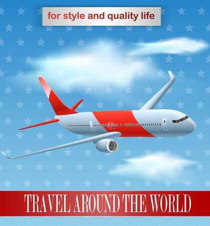 vintage plane: Vintage plane poster design
