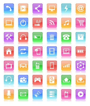 glossy button: glossy button icon