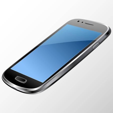 touchphone: Smartphone, mobile phone isolated, realistic vector illustration