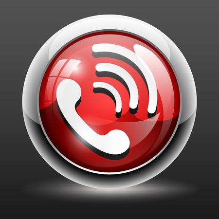 phone button: 3D Phone icon button