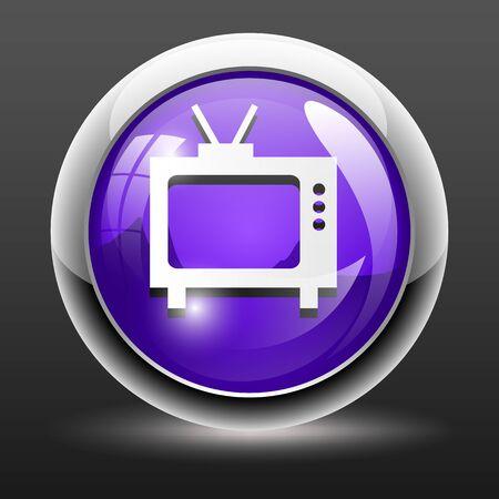 retro tv: Retro tv set icon