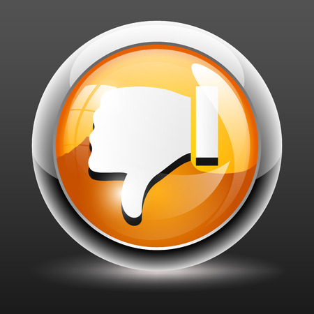 not confirm: Thumbs down icon illustration Illustration