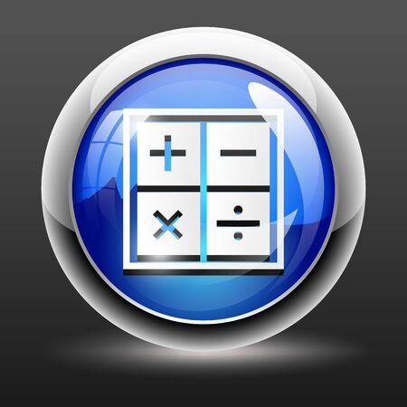 Vector illustratie van zakelijk concept met calculator icoon Vector Illustratie