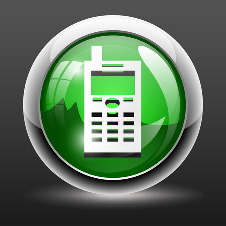 mobile phone icon: 3D Mobile phone icon