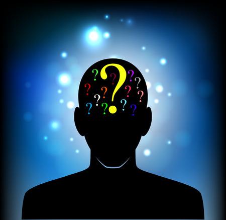 人間の心、意識、想像力、科学と創造性の頭  イラスト・ベクター素材