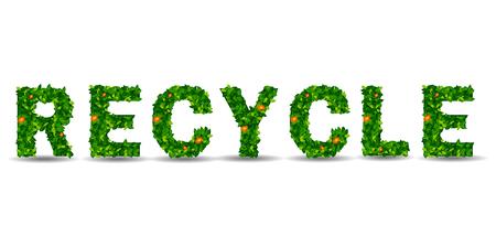europa: recycle symbol leaf on isolated background Illustration
