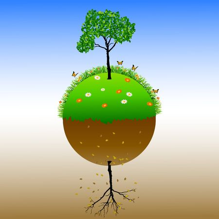 barren: World Environment Day background for the symbol of the earth fertile and barren