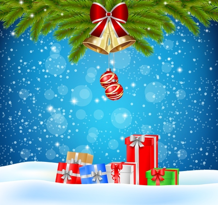Christmas background and gift Stock Photo