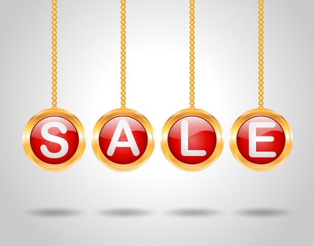 Sale background with ball