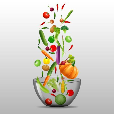 icon series: Cooking infographics. Fresh salad. Detailed  Icon. Series of food and drink and ingredients for cooking