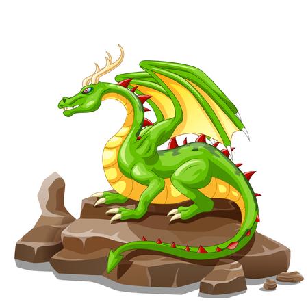 Dragon animal cartoon. Vector illustration