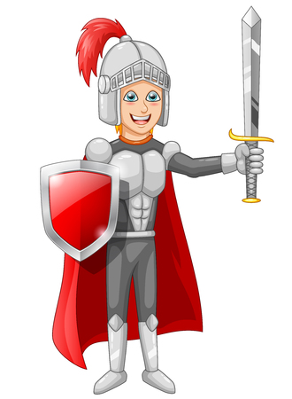 stage costume: Cartoon knight boy Vector illustration Illustration