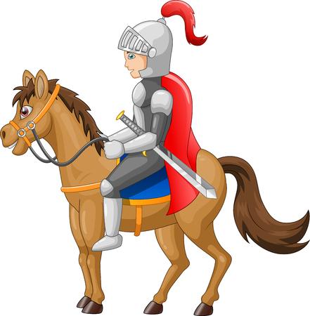 Épée du bouclier chevalier du chevalier Illustration vectorielle