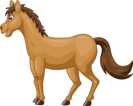 cartoon brown horse Vector illustration Illustration