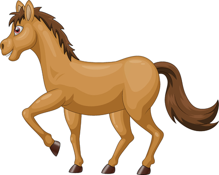 cartoon brown horse Vector illustration Illustration