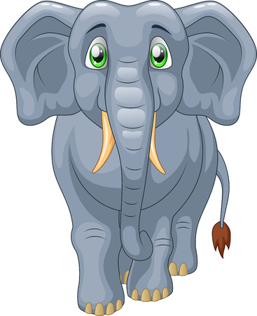 funny baby: Cute elephant cartoon. Vector illustration