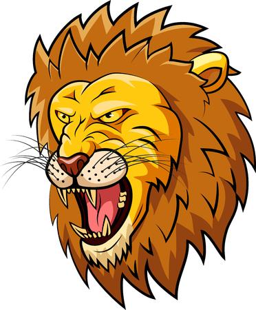 Lion mascot face. Vector illustration