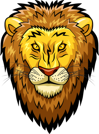 Lion mascot face Vector illustration Illustration