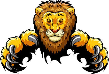 Wütend Löwe Maskottchen. Vektor-Illustration Standard-Bild - 79522755