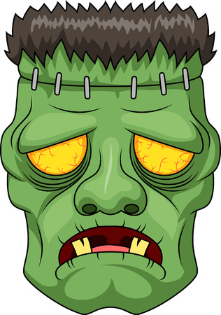 Frankensteins 머리의 아이콘입니다. 벡터 일러스트 레이 션 일러스트