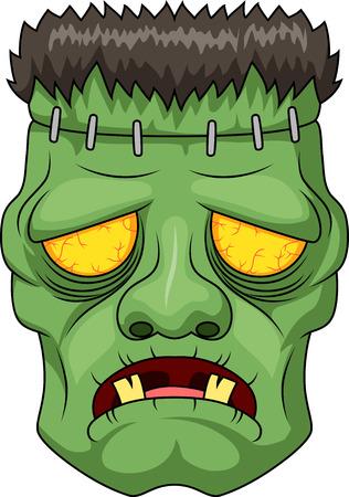 Icon of the Frankensteins head. Vector illustration Illustration