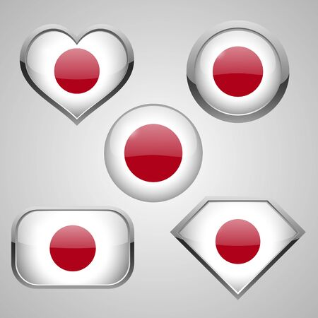 japan flag icon theme. vector illustration Illustration